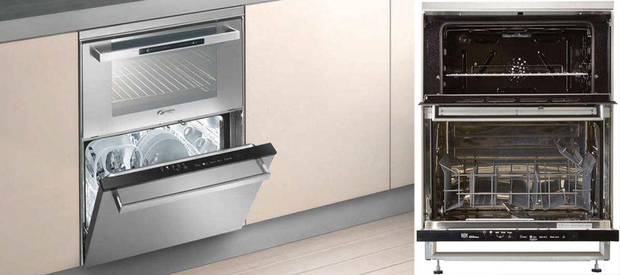 Combine Four Lave Vaisselle Trio Rosieres Cuisiniere Duo Candy 609x